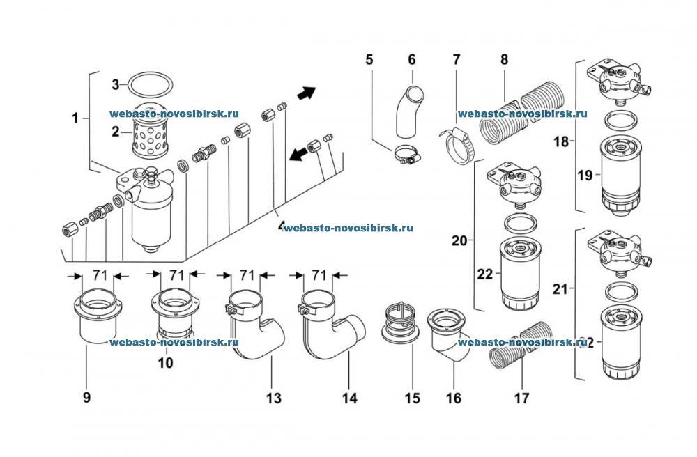 Оригинальный графический каталог Webasto Thermo 350