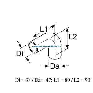 87817A Патрубок формованный внутр. 38,внеш. 47, угол 90, 40/40мм