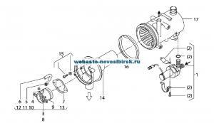 графический каталог запчастей для Thermo 90 ST дизель 24В