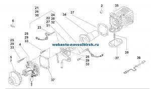 графический каталог запчастей для Air Top 2000 ST бензин 12В