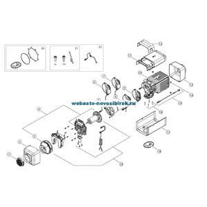 графический каталог запчастей для Air Top Evo 55 Бензин 12В