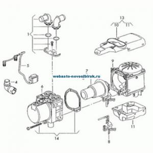 графический каталог запчастей для Thermo Top V Diesel