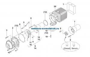 графический каталог запчастей для HG Air Top 3500 бензин 12В