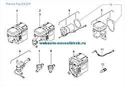 графический каталог запчастей для Thermo Top E дизель