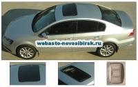 VW Passat с установленным люком Hollandia 735-III Comfort